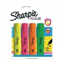 Sharpie Fluo XL Highlighter Assorted Blister 4 Pack