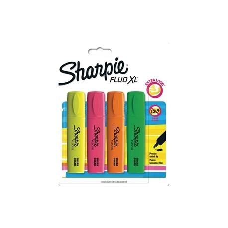 Sharpie Fluo XL Highlighter Assorted Blister 4 Pack