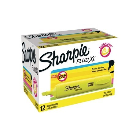 Sharpie Fluo XL Highlighter Yellow Tuck 12 Pack