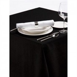 Palmar Polyester Tablecloth Black 54in