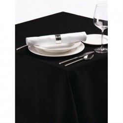 Palmar Polyester Tablecloth Black 70 x 108in