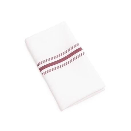 Bistro Table Napkins Burgundy Stripe