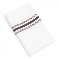 Bistro Table Napkins Black Stripe