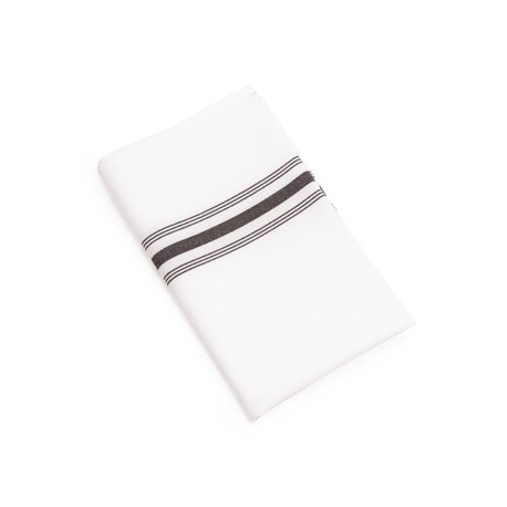 Bistro Table Napkins Black Stripe