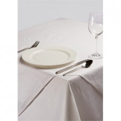 White Square Polycotton Tablecloth 35in