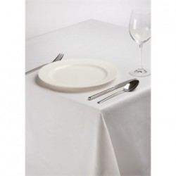 Rectangular Polycotton Tablecloth White 70 x 144in