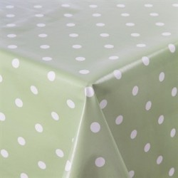 PVC Green Polka Dot Table Cloth XL