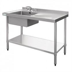Vogue Stainless Steel Sink Left Hand Bowl 1200x600mm