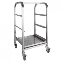 Vogue Glass Racking Trolley 3 Tiers 350mm