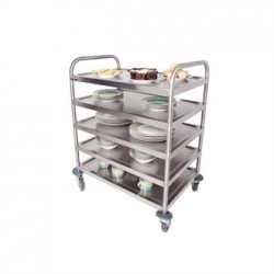 Craven 5 Tier General Purpose and Cleaning Trolley With Brakes