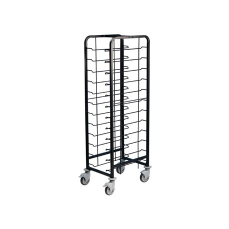 EAIS Powder Coated Enamel Clearing Trolley 12 Shelves