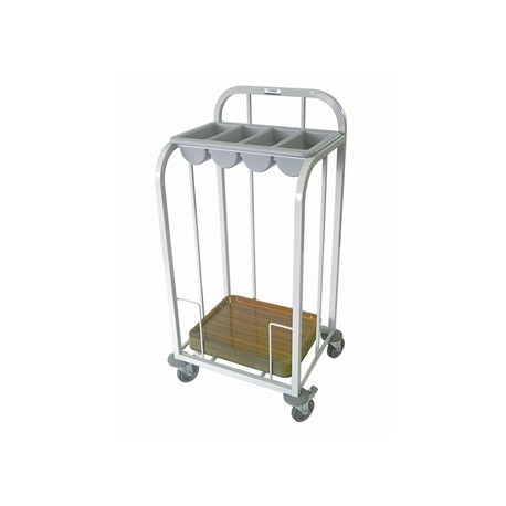 Craven Steel Single Tier Cutlery and Tray Dispense Trolley