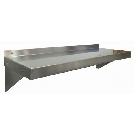 "Nella Stainless Steel Wall Shelf 14"" x 24"""