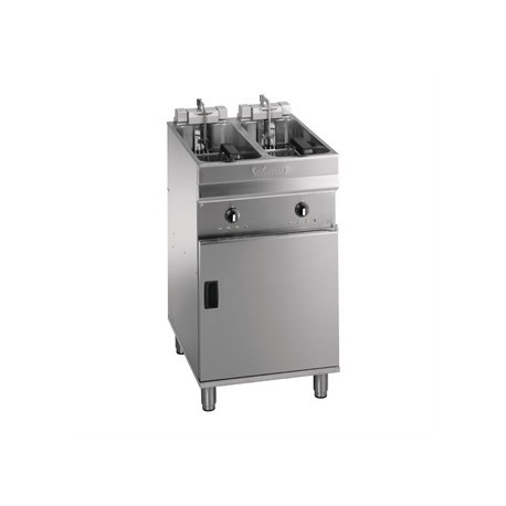 Valentine Evo 2525P Freestanding Twin Basket Fryer with Filtration