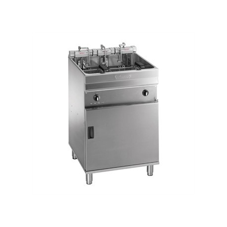 Valentine Evo 600P Freestanding Twin Basket Fryer with Filtration