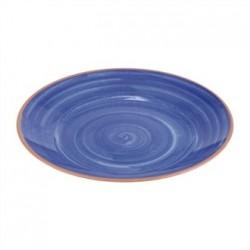 APS La Vida Melamine Plate Round Blue 405mm