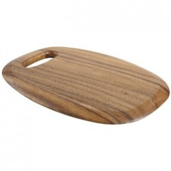 Small Rounded Acacia Presentation Board with Handle