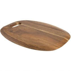 Large Rounded Acacia Presentation Board with Handle