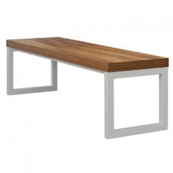 Bolero Dining Bench Walnut Effect with Silver Frame 6ft