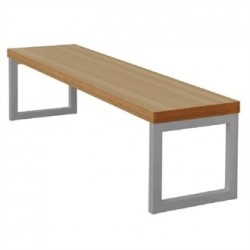 Bolero Dining Bench Beech Effect with Silver Frame 5ft