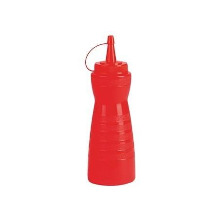 Vogue Red Lidded Sauce Bottle