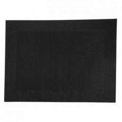 Woven PVC Black Table Mat
