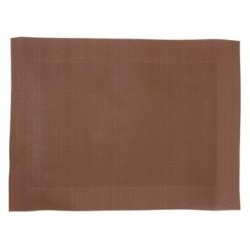 Woven PVC Brown Table Mat