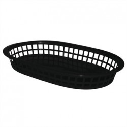 Oval Food Basket Black