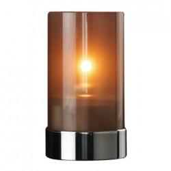 Metro Lamp Metallic Grey