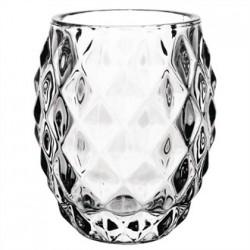 Olympia Glass Diamond Tealight Holder Clear  75mm