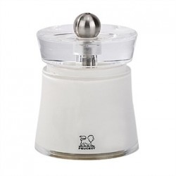 Peugeot Bali Acrylic Salt Mill White 3in