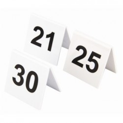 Plastic Table Numbers 21-30
