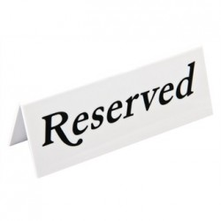 Reserved Plastic Table Sign