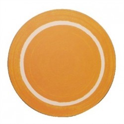 Round Casual Yellow Dining Mat