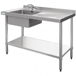 Vogue Stainless Steel Sink Left Hand Bowl 1000x600mm