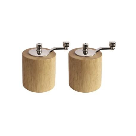 Light Wood Salt and Pepper Mill Grinder Set