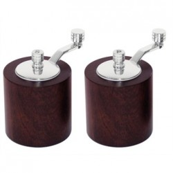 Dark Wood Salt and Pepper Mill Grinder Set
