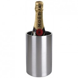 Olympia Wine Bottle Cooler Brushed Steel
