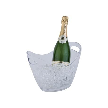 APS Wine Bucket Clear Medium 2 Bottle