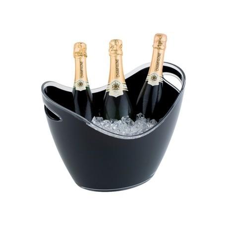 APS CHampagne Bucket Black 3 Bottle