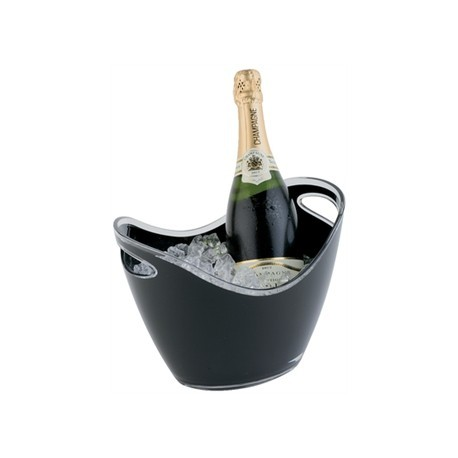 APS Wine Bucket Black Medium 2 Bottle