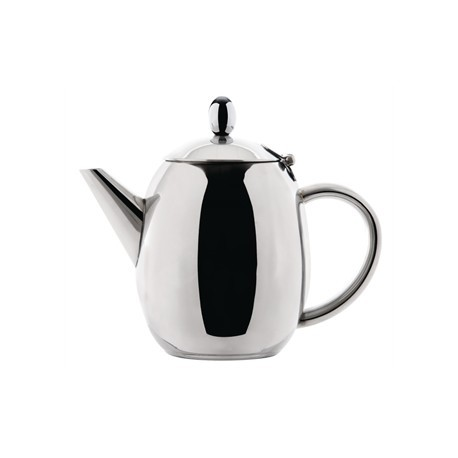 Olympia Richmond Teapot Stainless Steel 18oz