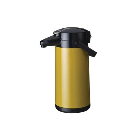 Bravilor Furento 2.2Ltr Airpot with Pump Action Metalic Yellow