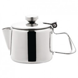 Olympia Concorde Tea Pot Stainless Steel 12oz