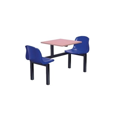Bolero Two Seater Side Access Canteen Unit Beech and Blue