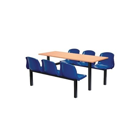 Bolero Six Seater Side Access Canteen Unit Beech and Blue