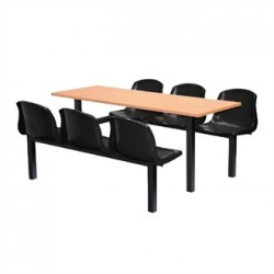 Bolero Six Seater Side Access Canteen Unit Beech and Black