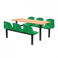 Bolero Six Seater Side Access Canteen Unit Beech and Green