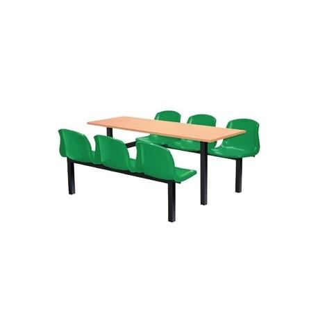 Bolero Six Seater Side Access Canteen Unit Beech and Green