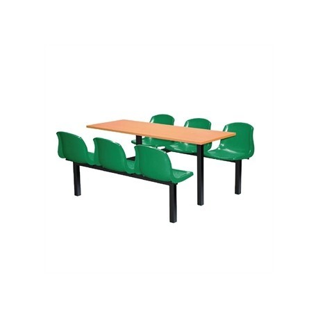 Bolero Six Seater Dual Access Canteen Unit Beech and Green